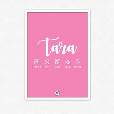 Personalizirana grafika ob rojstvu otroka | Enobarvna | #superšik by Satis Design