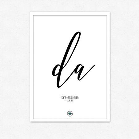 Darilo za poroko - Poročni DA | #superšik by Satis Design